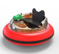 new design laser shooting bumper boat
