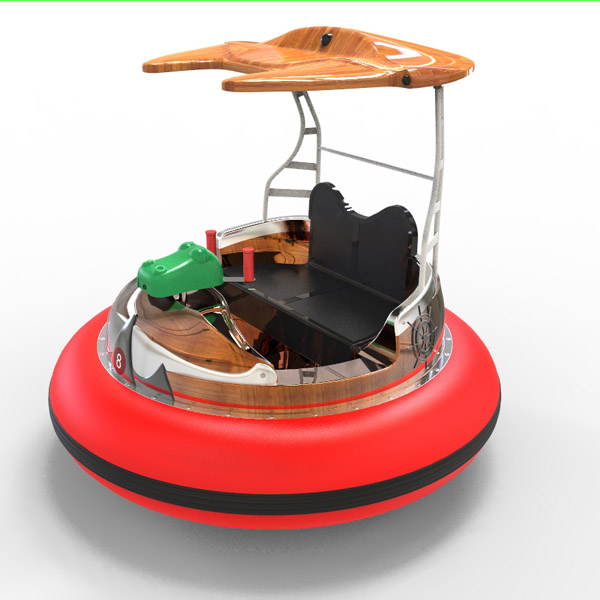 laser shooting bumpper boat-red