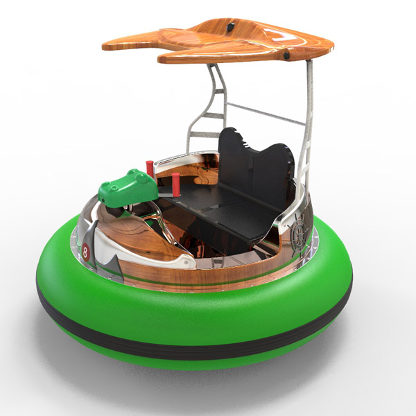 laser shooting bumpper boat -green