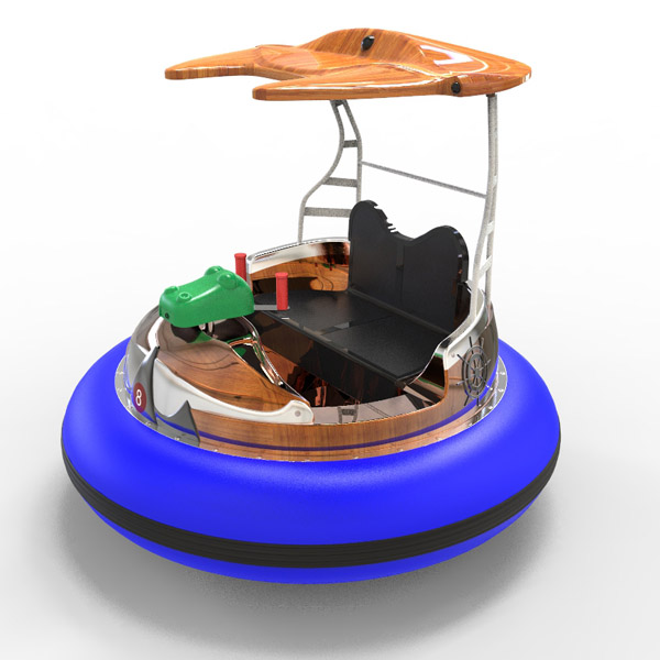 laser shooting bumpper boat -blue